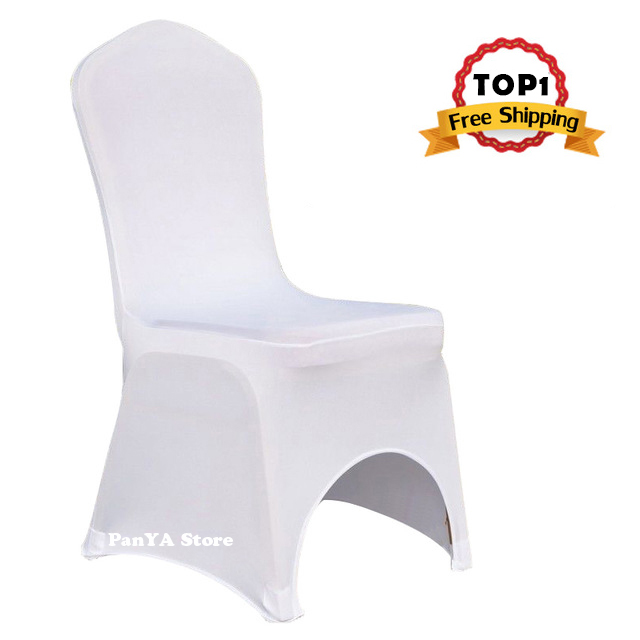 Wholesale White Polyester Elastic Lycra Stretch Banquet Chair Covers of Wedding Party Event Hotel Dining Room