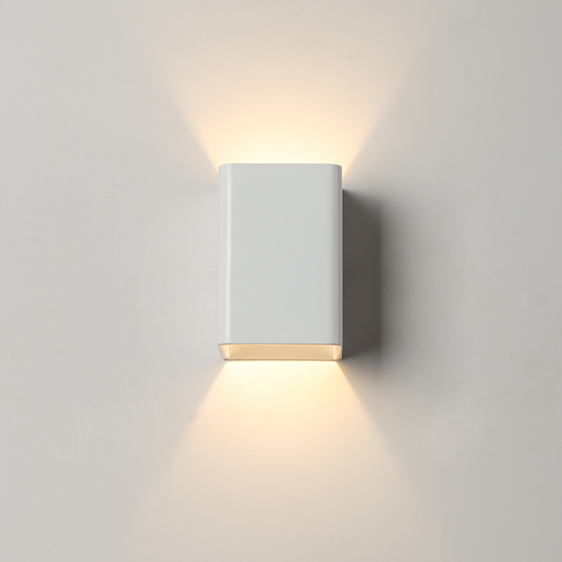 LED Aluminium wall light rail project Square LED wall lamp bedside room bedroom wall lamps arts