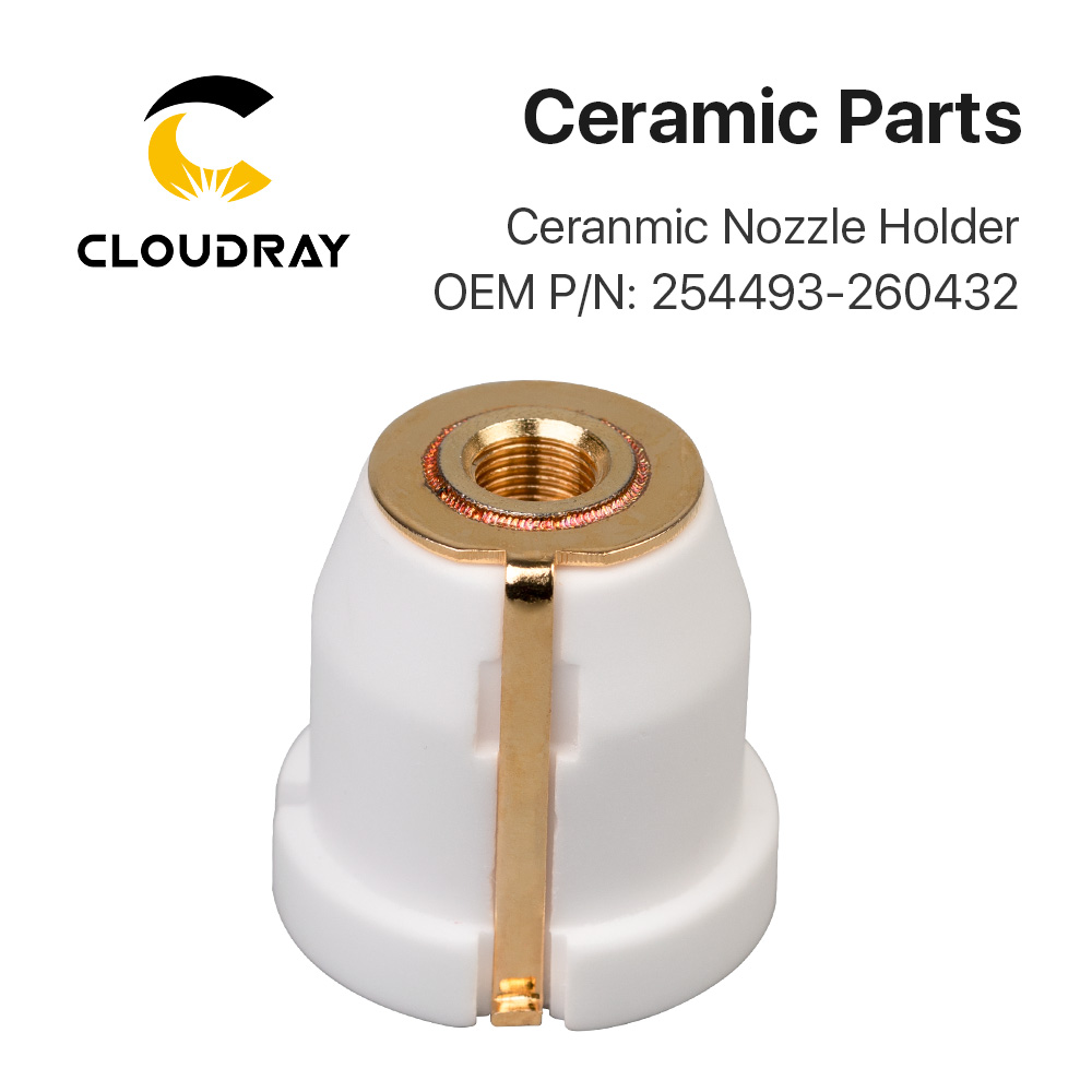 Cloudray Laser Ceramic Nozzle Holder OEM PIN 254493 / 260432 For Fiber Laser Cutting Head Free Shipping