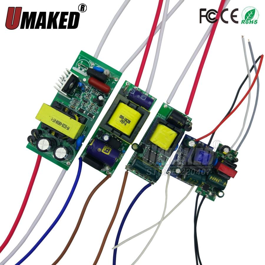 AC85-277V Controlador LED 2-3x3w 4-7x3w 8-12x3w 12-18x3w 18-24x3w 600mA 650mA corriente constante transformadores para iluminación de fuente de alimentación Controlador cree XHP70 6v 5 modo dia26mm input7-18v output6V 4A controlador de linterna Led de corriente constante