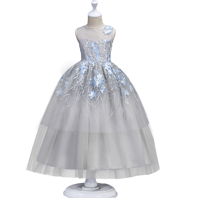 Teenage Birthday Party dress Kids Flower Girl Dress elegant Princess Wedding Pageant Formal Dress Sleeveless long Petals Dress long criss cross open back formal party dress