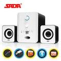 SADA D-223 Bluetooth Combination Speaker Small Stereo Suitable for Desktop Notebook PC Laptop TF/FM/U Disk Bass Gun