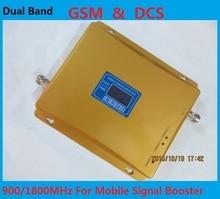ЖК-Дисплей! GSM 900 МГц/DCS 1800 МГц Dual Band Усилитель Сигнала, GSM И DCS Мобильный Телефон Сигнал Повторителя Усилитель + Адаптер Питания