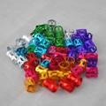 Un Conjunto de Kit de Bolas de Accesorios 7 Colores Mezclados Dreadlock cuentas Ajustable Cuff Clip Multicolor Banda de Goma para Trenzas Trenzas pelo
