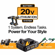 DEKO GCD20DU2Y 20Volt Max Electric Screwdriver Cordless Drill Mini Wireless Power Driver DC Lithium-Ion Battery 1/2-Inch 2-Speed
