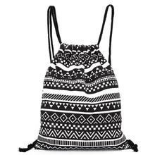 2018 Unisex Backpack National Canvas font b Drawstring b font School Bagpack Vintage College Student Girls