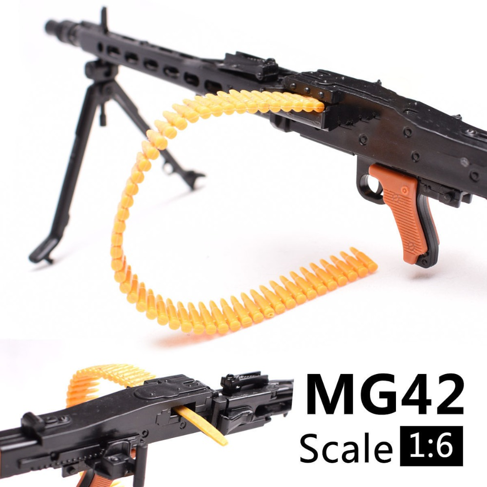1 6 1 6 Scale 12 inch Accessories WWII MG42 Heavy Machine Gun Bullet Belt Toys 1 100 MG Bandai Gundam Model Gift in Toy Guns from Toys Hobbies