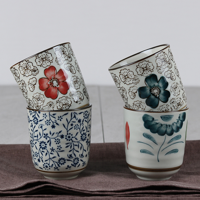 Japanese Ceramic 488ML Tea Cups 48 Designs Available Creative New Japanese Tea Garden Design Creative