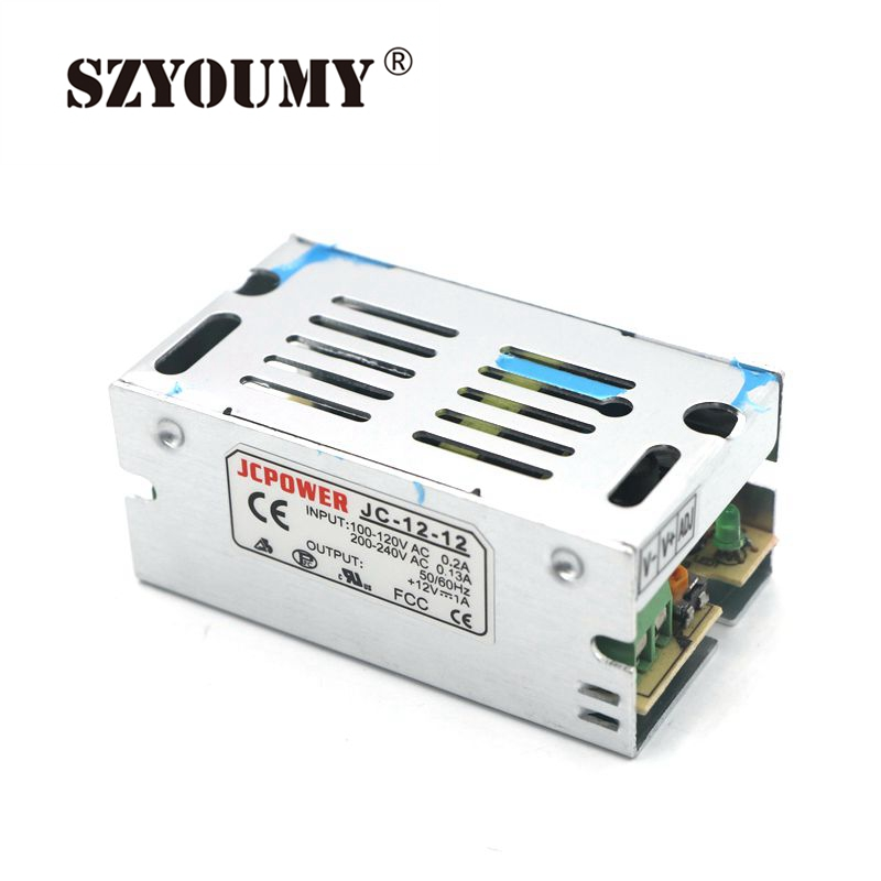 Lighting Accessories Lights & Lighting Szyoumy Dhl 1a Dc12v Switch Power Supply Led Strips Light Strings Tape Rope Ribbon Led Power Adapter Aluminum Metal Material Relieving Heat And Thirst.