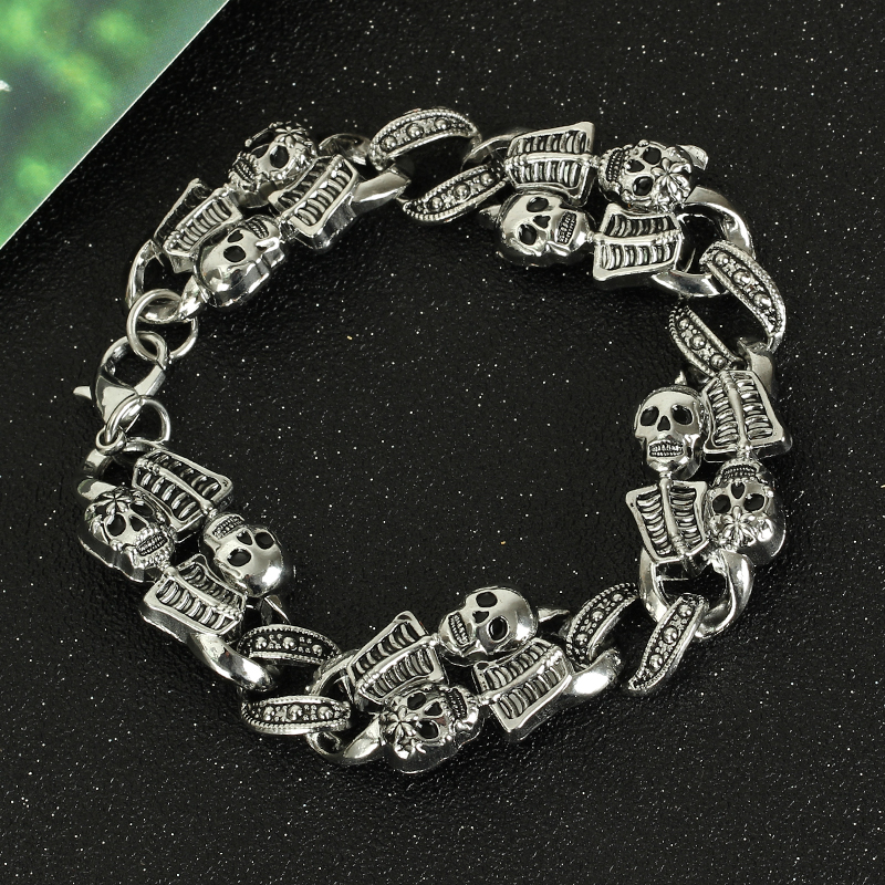Goth Men Bracelets Zinc...