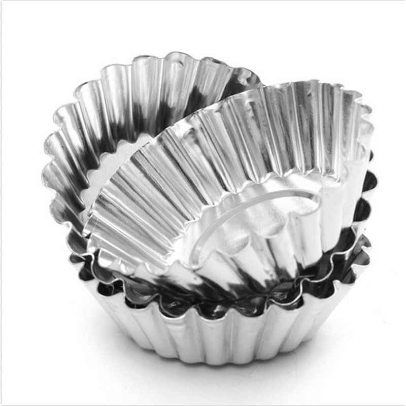 Azerin 10 шт. коробка для яиц из Алюминий в виде пирожного в чашке, для приготовления печенья пудинг формочка, инструмент для выпечки, новинка, бесплатная доставка