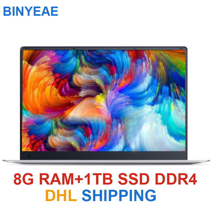 15.6 polegada Laptop Com 8G RAM DDR4 1TB 512G 256G 128G SSD Gaming Laptops Ultrabook intel Quad Core Win10 j3455 Notebook Computador