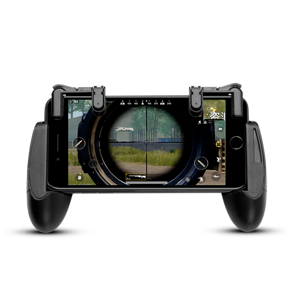 Smart Phone Mobile Gaming Trigger L1 R1 Shooter Controller Knives Out Rules of Survival Mobile Game Fire Button Aim Key With Pad