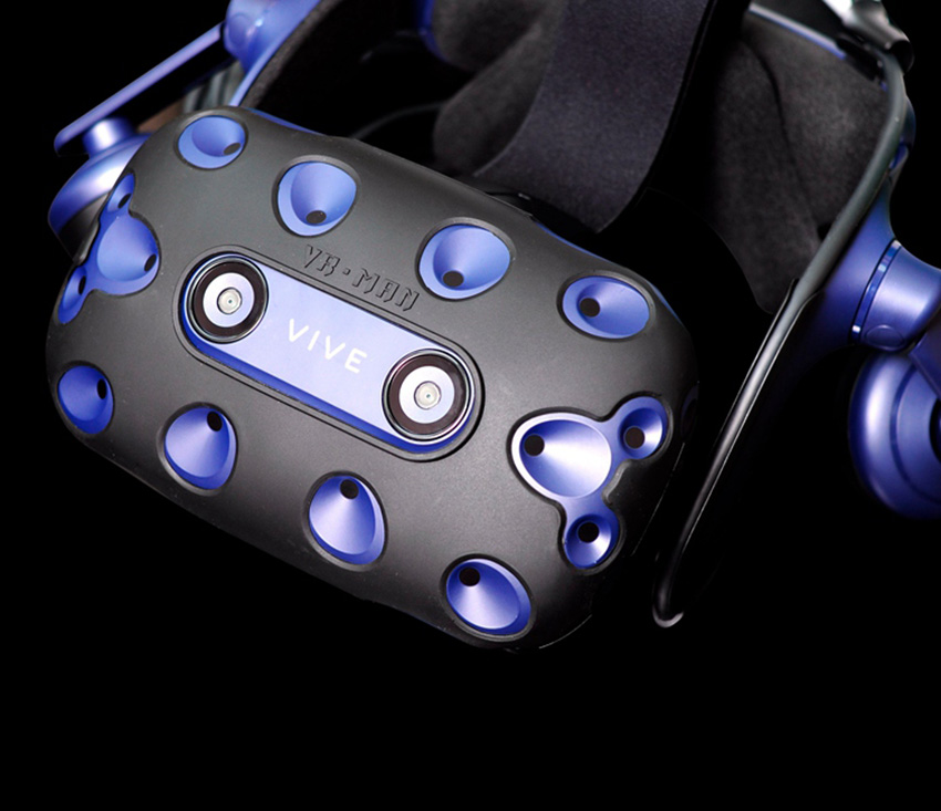 For HTC VIVE PRO VR Virtual Reality Headset Silicone Rubber VR Glasses Helmet Controller Handle Case 0030