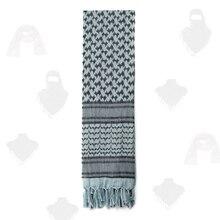 PSKOOK 100% Cotton Shemagh Tactical Desert Scarf Arab Tessel Wrap Keffiyeh  110x110cm