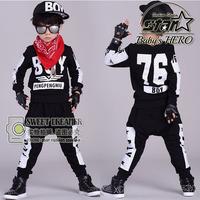 Kids Hip Hop Clothing Sets 2 Pieces Children Fall Fashion Clothes Cool Sweatshirt Harem Pants Teenage