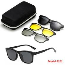 3D Magnetic Polarized Clip-on Driving Sunglasses Eyeglass Frames Mirror Lens Sport Outdoor Glasses TR90 Frames Classic