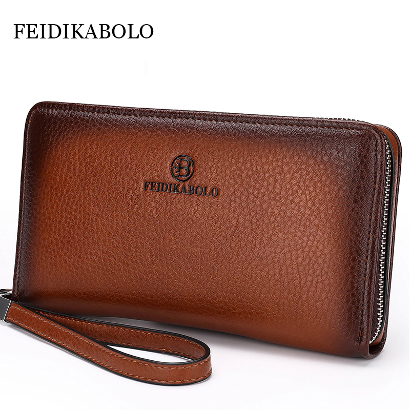 2017 Luxury Male Leather Purse Men's Clutch Wallets Handy Bags Business Carteras Mujer Wallets Men Black Brown Dollar Price 2016 famous brand new men business brown black clutch wallets bags male real leather high capacity long wallet purses handy bags
