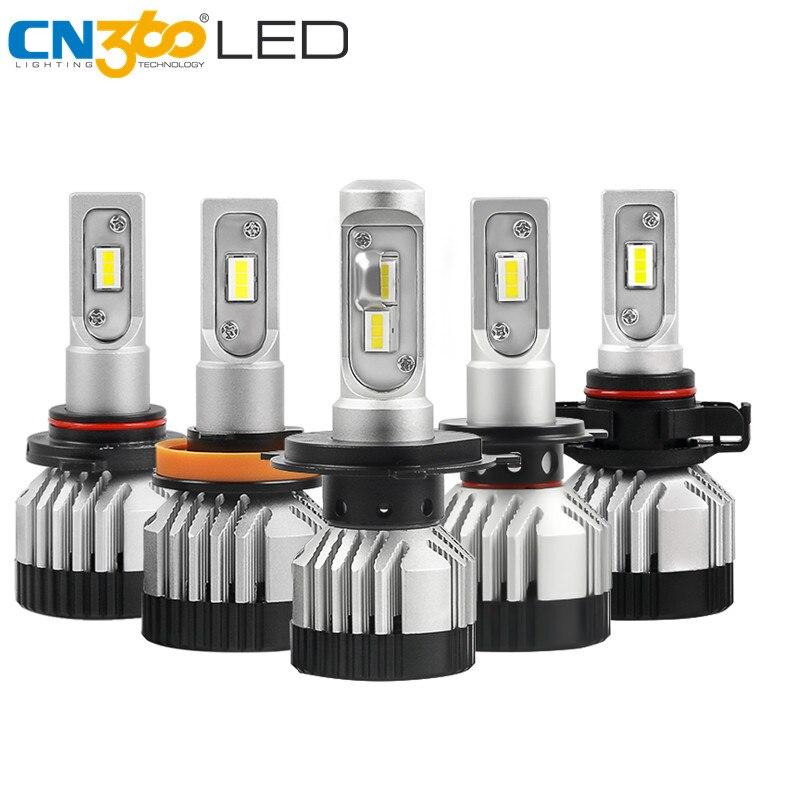 CN360 2PCS H7 LED Bulb H4 H11 9005 9006 Car Headlight Canbus Lamp 12V 24V 14000LM