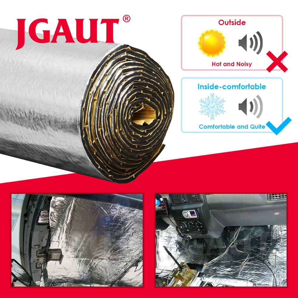 JGAUT Car Sound Noise Varmeisoleringsmotor Trunk Rubberized Compound Deadener Materiale Selvklæbende