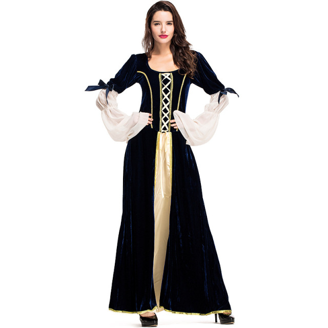 Woman s Renaissance Medieval Gothic Long Dress For Halloween Ball Gowns  Costumes Gypsy church Notre Dame Cosplay Dress ed7e6893c9cc