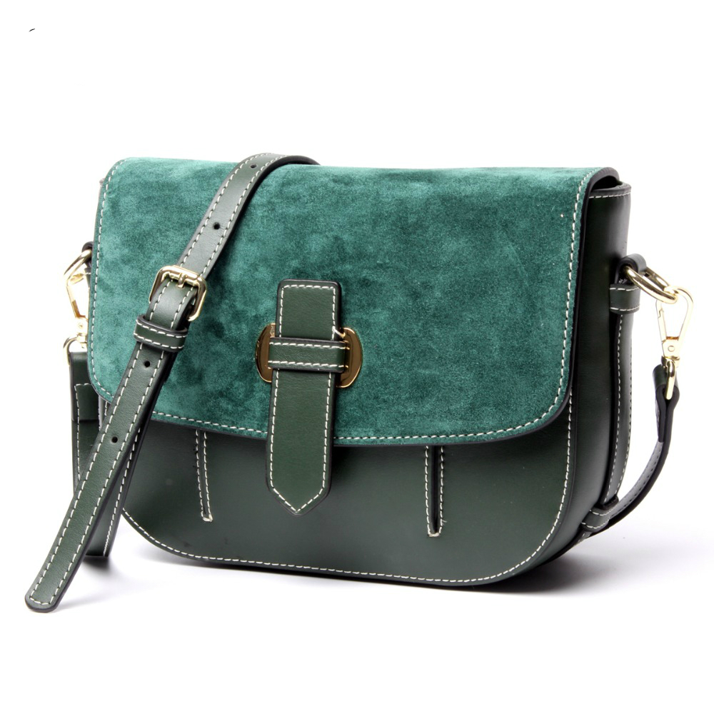 2017 New Vintage Small  Women Messenger Bags Brand Designer Genuine Leather Women Bag Real Leather Shoulder Bags