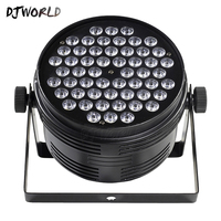 Fast Shipping Aluminum Alloy Black LED Par 54x4W Cool And Warm Power Con Plug DMX 512 Stage Effect Lighting For Disco DJ Party
