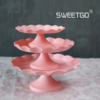 Romantic Pink Colour Plate The WROUGHT IRON Cake Frame Platform Goods Of Furniture For Rather Than