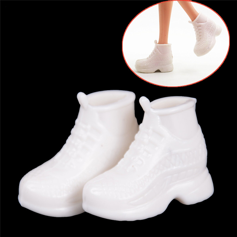 10 Pairs Fashion White Doll Sneakers Shoes Dolls Accessories Gift For  For 30cm Doll Best Birthday Gifts