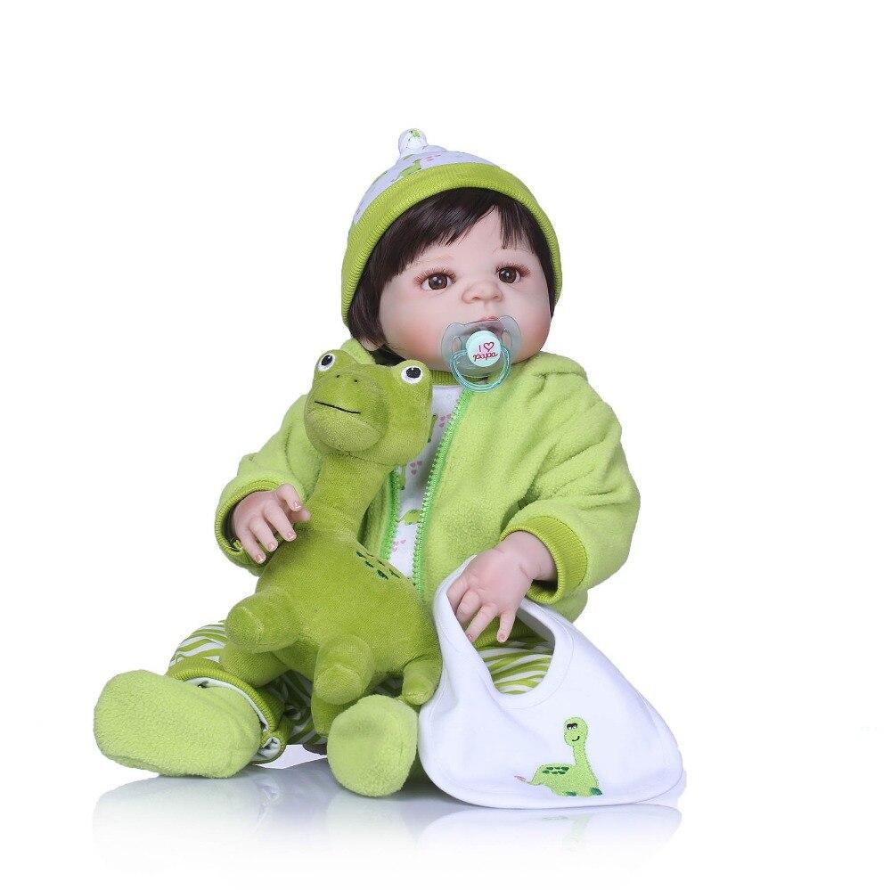 Npkcollection دمى واقعية فتاة الأميرة 23 بوصة دمى طفل تولد حيا reborns بيبي للغسل لعبة اطفال هدايا عيد-في الدمى من الألعاب والهوايات على  مجموعة 2
