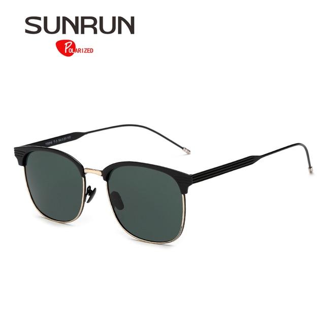 bb255297bf8a SUNRUN Women Sunglasses Polarized Metal Frame Sun Glasses Men Brand Design  lentes de sol mujer Y9916