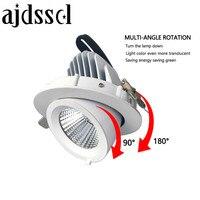 Luz descendente de techo COB 10W 15W 30W led regulable AC110V/220V85 265V led empotrado ajustable luz interior cob led Downlight|Lámparas empotrables| |  -