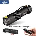 High-quality CREE XM-L2 Mini Flashlight Waterproof Zoomable  Flash light lantern LED Torch penlight 3800LM 5 Modes