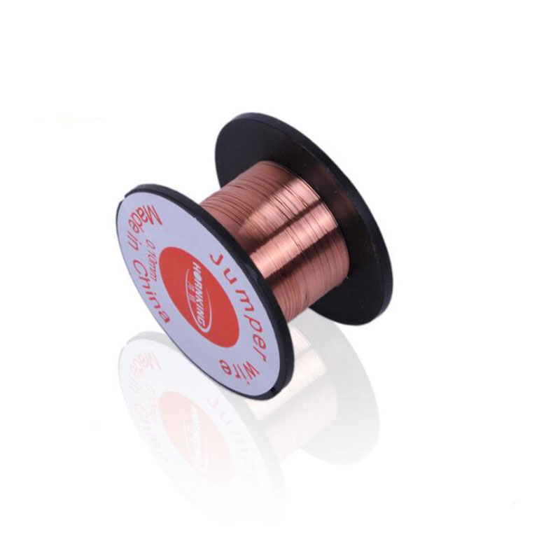 1PCS 0.1mm Copper Soldering Solder PPA Enamelled Reel Wire Roll 15m