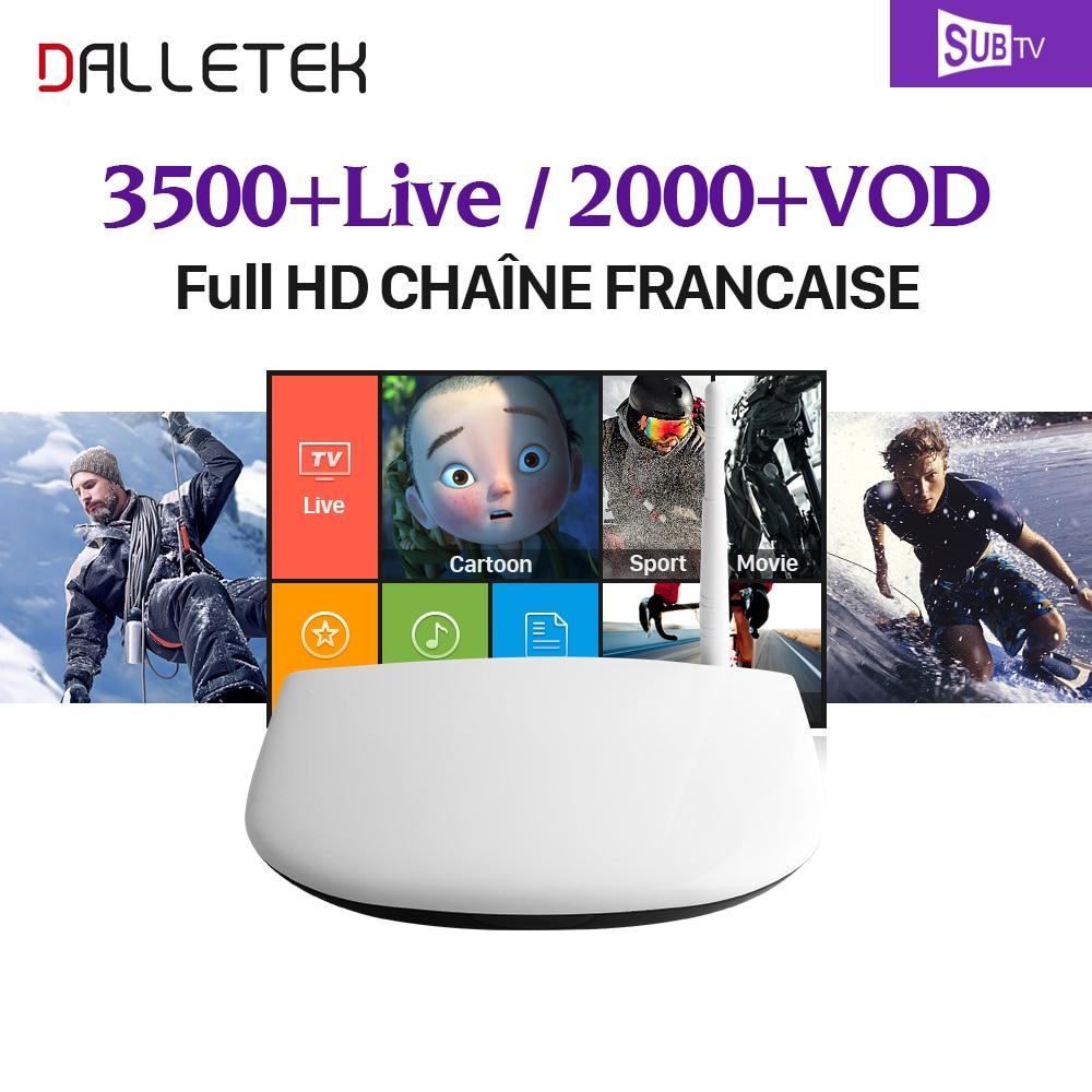 Dalletektv Android 6 0 Smart TV Box 4K X 2K RK3229 1G 8G 2 4GHz WiFi