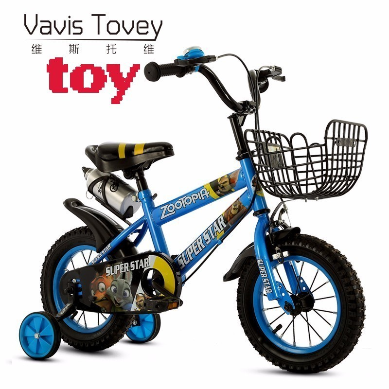 new VAVISTOVEY Good Ride on bike also tricycle Cute Cartoon pattern kids cycling Light student bicycle for Boys girls