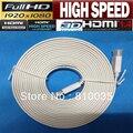 Бесплатная доставка 1 шт. высокоскоростной белый плоский hdmi кабель нью-кабо жк-hdmi 1.4 В 10 м, 5 м, 3 м, 1.5 м поддерживает 3D и полный HD1080p