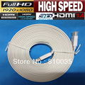 Free shipping 1pcs high speed white flat hdmi cable cabo hdmi 1.4V 10m,5m,3m,1.5m supports 3D&full HD1080p