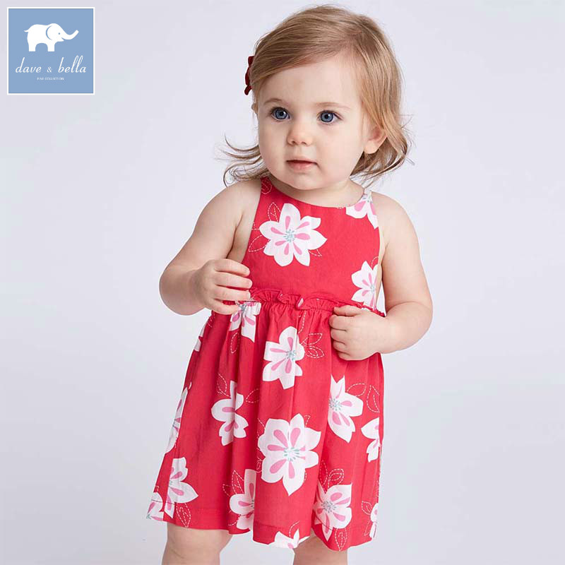 ca0848db1a4 Dave bella lolita baby girl clothes children summer clothing infant toddler  party wedding floral girls sleeveless