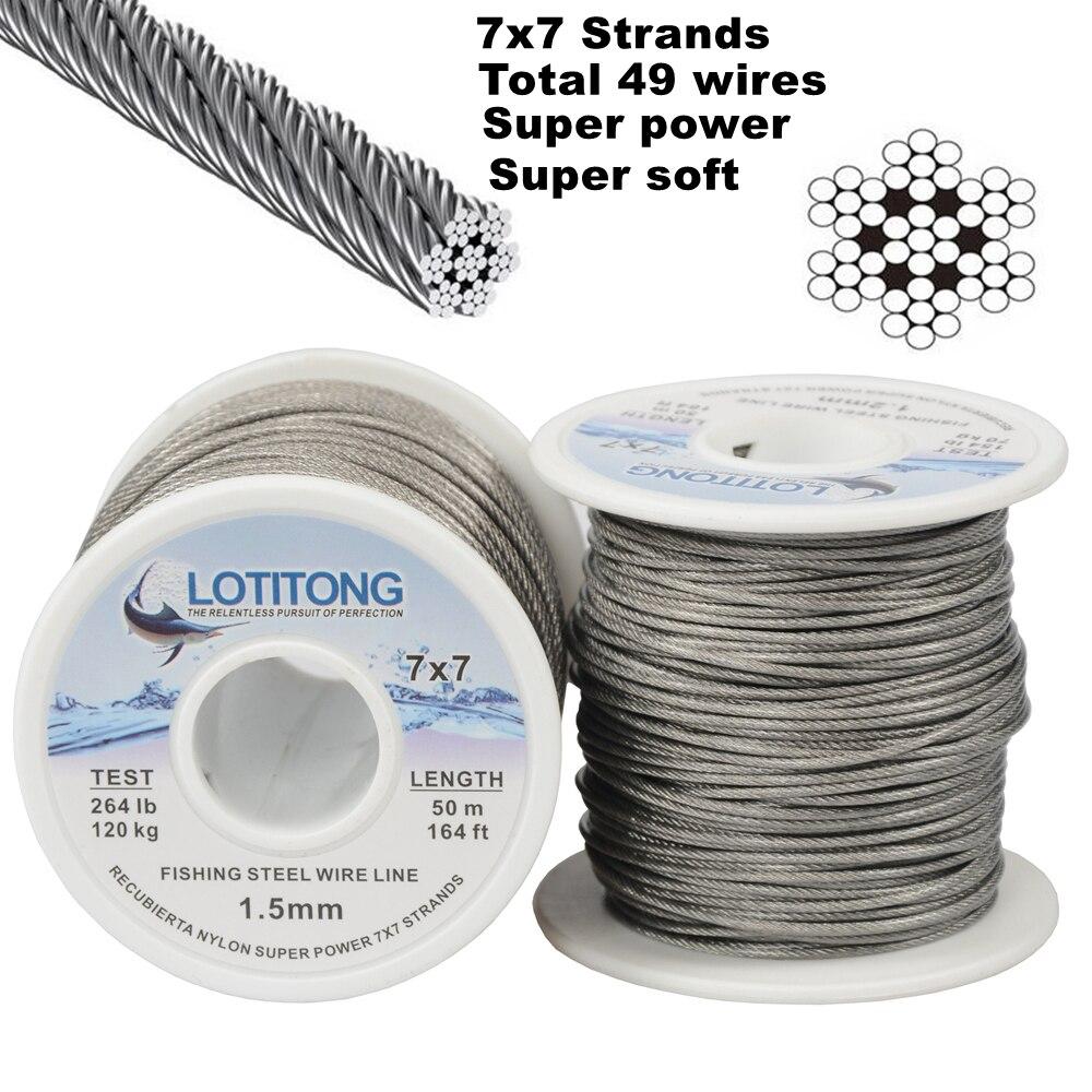 Pesca 70lb-368lb potência máxima 49 fios super