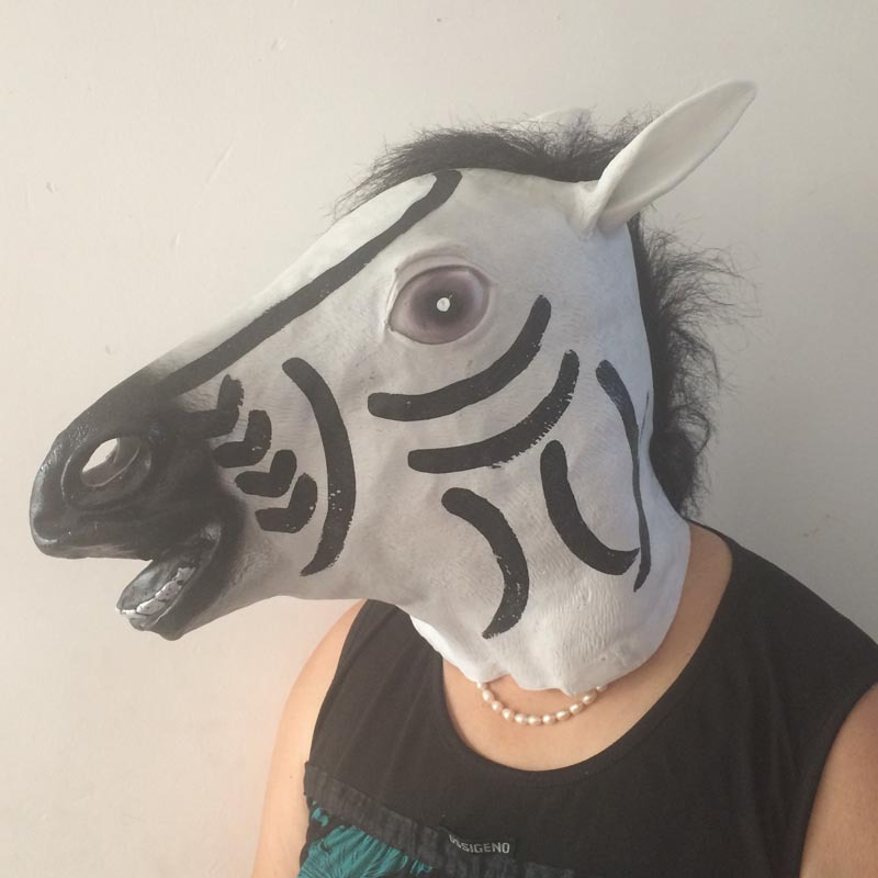 novelty halloween unicorn horse head mask latex prop animal cosplay halloween costume party t31china - Halloween Novelties Wholesale