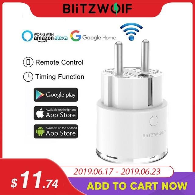 BlitzWolf BW-SHP6 ue podłącz 220 V-240 V 10A pomiaru wersja inteligentne gniazdo WiFi rozrządu zdalnego sterowania pracy z Amazon Alexa /Google
