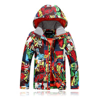 Winter Kids Outerwear Warm Thicken Ski Jackets Coat Sporty Snowboard Ski Suit Sets Waterproof Large Boys Girls Snow pant