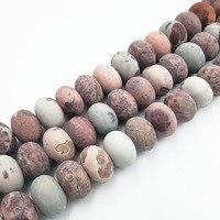Lii Ji Natural Jasper Flat Round Shape beads Approx 12x18mm DIY Jewelry Making Approx 39cm