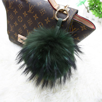100 Real Raccoon Fur Pom Accessories Chain Mixed Colors Big Size Ball Bag Accessories Keychain Fur