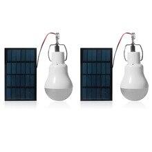 2 Chiếc Di Động Đèn LED Năng Lượng Mặt Trời 15W 130lm Chạy Bằng Năng Lượng Mặt Trời Năng Lượng Đèn 5V Bóng Đèn LED Cho Ngoài Trời Cắm Trại đèn Lều Đèn Năng Lượng Mặt Trời