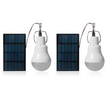 2pcs נייד LED שמש אור 15W 130lm שמש מופעל באנרגיה מנורת 5V LED הנורה עבור בחוץ קמפינג אור אוהל מנורת שמש