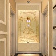 Настенная картина да Винчи витрув люк виатер портрет холст живопись