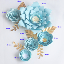 Handmade Cardstock Rose DIY Paper Flowers Leaves Set For Wedding & Event Backdrops Decorations Nursery Wall Deco Video Tutorials