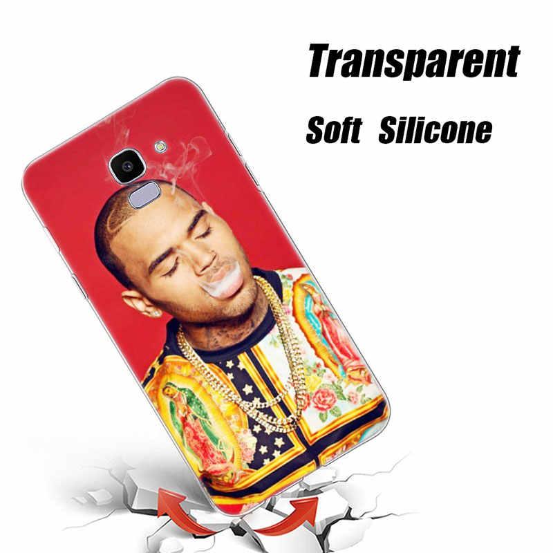 В Стиле Хип-Хоп Исполнитель Chris Brown силиконовый чехол для телефона для samsung Galaxy J8 J6 J4 2018 J2 Core J5 J6 J7 Prime J3 2016 2017 ЕС J4 плюс